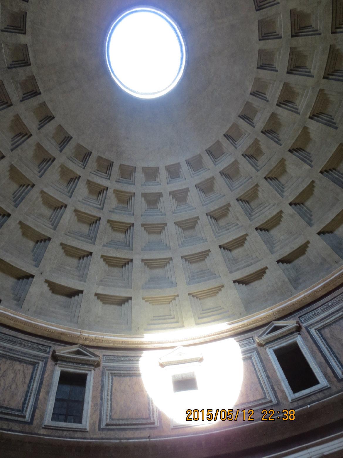 ローマ_パンテオン日時計の採光