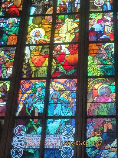 聖ヴィート教会Muchaステンドグラス